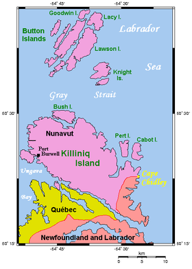 Carte de l'île de Killiniq