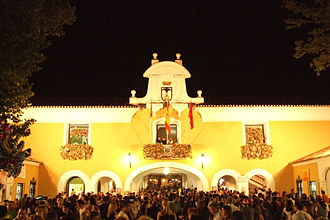 Albacete Fair - Capilla de la Virgen de los Llanos at the fairgrounds.