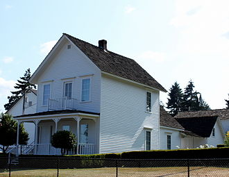 National Register of Historic Places listings in Columbia County, Oregon - Image: Caples House Museum Columbia City Oregon
