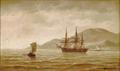 Carl Bille - En engelsk fregat til ankers ud for kysten.png