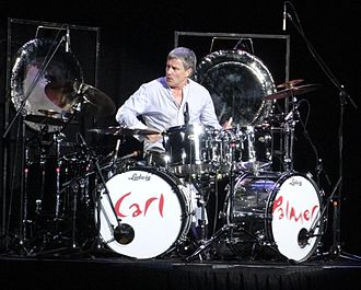 Carl Palmer - Palmer playing in an Asia reunion concert in Boston, Massachusetts, 18 October 2012