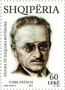 Carl Patsch 2015 stamp of Albania.jpg