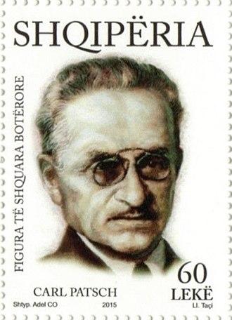 Carl Patsch - Carl Patsch on a 2015 stamp of Albania