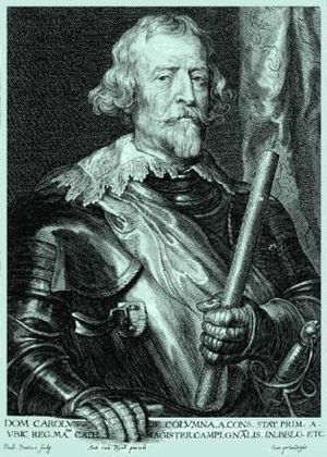 Siege of Bad Kreuznach - Portrait of Don Carlos Coloma by Anthony van Dyck.