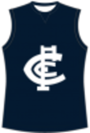 Loddon Valley Football League - Image: Carlton Football Guernsey