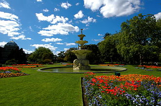 Carlton Gardens - Carlton Gardens fountain