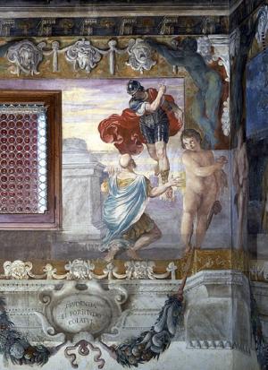 Proculus Julius - Carracci, Romolo appare a Proculo, (16c.)Palazzo Magnani, Bologna