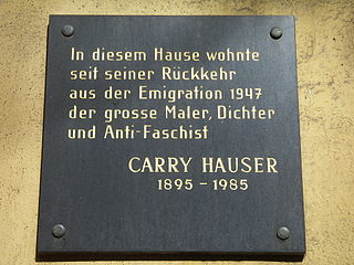 Carry Hauser Austrian painter and poet