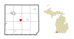 Location within Cass County