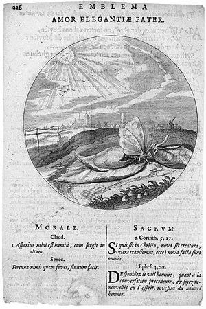 Jacob Cats - Emblem from Cats' Monita amoris virginei (1620)