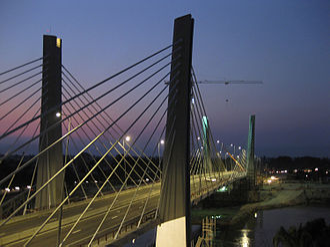 4 de Abril Bridge - Night view of the bridge 4 de Abril