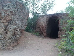 Caves on Pandavula metta