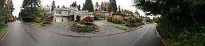 Cedar Park, Seattle - Cedar Park residential area near the short of Lake Washington