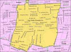 Census Bureau map of Bergenfield, New Jersey