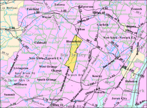 Census Bureau map of Bloomfield, New Jersey.png