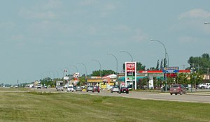 Martensville - Martensville's business district Centennial Drive (2009)