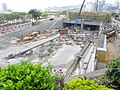 Central-Wan Chai Bypass Central entrance and exit under construction in July 2015.jpg