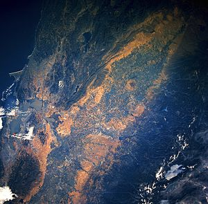 Central Valley (California) - Central Valley seen from space.
