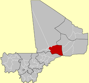 Location of the Cercle of Gourma-Rharous in Mali