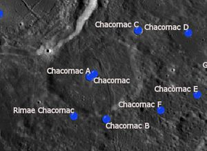 Chacornac (crater) - Satellite craters of Chacornac