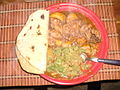 Chapati dinner.JPG
