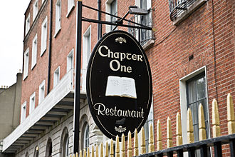Chapter One (restaurant) - Image: Chapter One sign