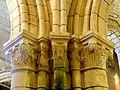 Chars (95), église Saint-Sulpice, bas-côté sud, chapiteaux du 1er pilier de la nef 4.JPG