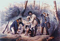 Chasse au furet, litho de Victor Adam 1801 1896.jpg