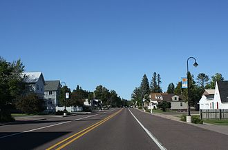 Chassell, Michigan - Downtown Chassell along U.S. Route 41