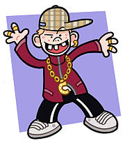 Caricature of a stereotypical chav