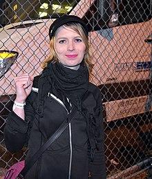 97d884c63c2d Chelsea Manning outside
