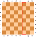 Chessboard with the f-file marked in red.png
