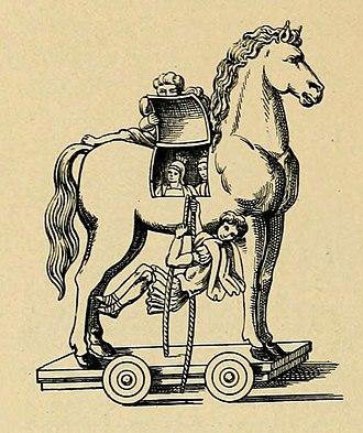 Trojan Horse - Trojan horse as depicted in the Vergilius Vaticanus