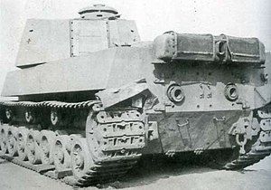 Type 5 Chi-Ri - Side-rear angle view of Type 5 Chi-Ri captured, post-surrender