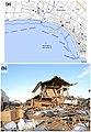 Chiba - Asahi - Hiramatsu -a- Tsunami height -b- A damaged house in Hiramatsu district.jpg