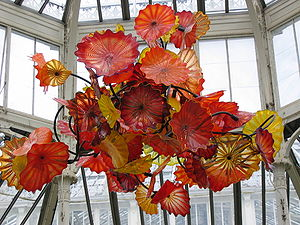 English: Glass art by Dale Chihuly at an exten...
