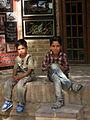 Children in Ribat-i-Abbasi of Nishapur (Hossein - Ali - Fatemeh - Hengameh and another girl - probably Afghani) 40.jpg