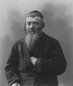 History of the Jews in Bessarabia - Jewish man in Kishinev (1900)