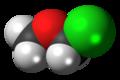 Chloromethyl methyl ether 3D spacefill.png