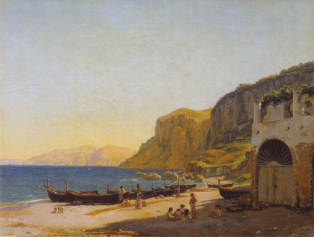 File:Christen Købke - Parti af Marina Grande på Capri - 1839.jpg - Wikipedia
