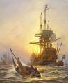Christian Mølsted - Hans Rostgaard sejler ud til den hollandske flåde - 1924.png