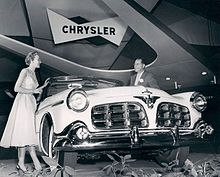 1955 Imperial Car Model In Its First Year As A Separate Make Apart From Chrysler Shown On Display At January Chicago Auto Show