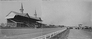 Churchill Downs - Composite image of Churchill Downs on Derby Day, 1902