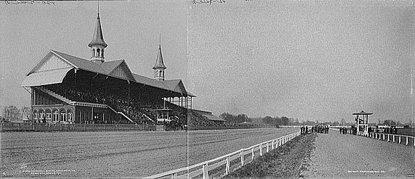 Composite image of Churchill Downs on Derby Day, 1902 Churchill Downs 1901.jpg