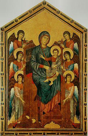 Maestà (Cimabue) - Image: Cimabue Maestà du Louvre