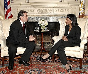 Adrian Cioroianu - Adrian Cioroianu meets Condoleezza Rice in Washington, DC, June 13, 2007