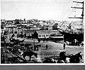 Circular Quay, Sydney, with Cutty Sark loading wool (5203714251).jpg
