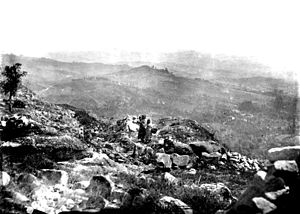 Citânia de Briteiros - Citânia de Briteiros during an 1877 archaeological campaign