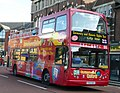City Sightseeing bus in Oxford, England 06 - Frideswide Square.jpg