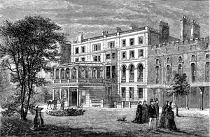 Clarence House - An 1874 drawing of Clarence House.